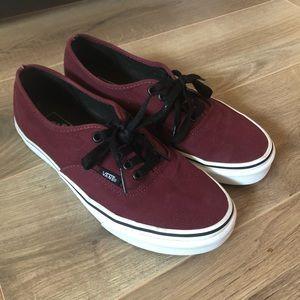Vans Burgundy Lace Up Shoes